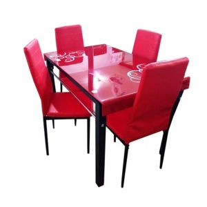 salle a manger 4 places - Rouge clair