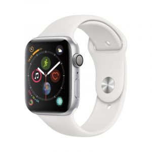 Apple Watch séries 4 -  44mm - Boîtier en aluminium argenté - Blanc
