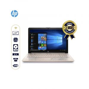 "Laptop HP 15-DA0021CY - Intel Core i5 - 1.60GHz, 8GB RAM, 1To HD, 16GB Optane, 15.6"" Ecran Tactile, Rose or ( REFURBISHED )  