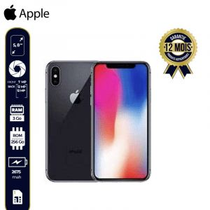 Apple Iphone X (256Go, 3GB Ram, 4G Lte)-12 Mois- Space Gris | Glotelho Cameroun