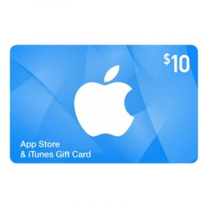 Apple Itune Gift Card - Carte cadeau - $10 | Glotelho