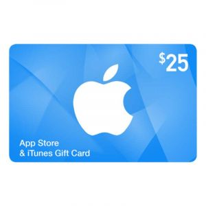 Apple Gift Card - Carte cadeau App Store et iTunes - $25 | Glotelho