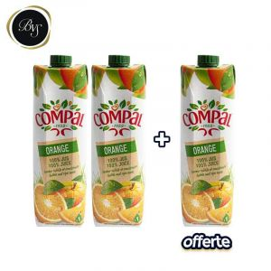 2 Briques COMPAL ORANGE - 100% jus d'orange - 75cl + Une Brique Offert  | Glotelho cameroun