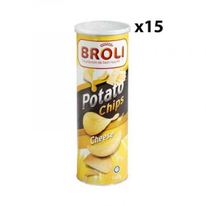 Potato Chip's Broli - Chips de pomme - Cheese - Fromage - 160g - 15 Pièces
