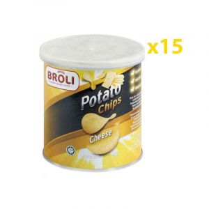 Potato Chip's Broli - Chips de pomme - Cheese - Fromage - 40g - 15 pièces | Glotelho