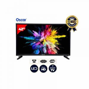 "Smart TV – 42"" – Oscar – Full HD Led – Noir – 6 mois l Glotelho Cameroun"