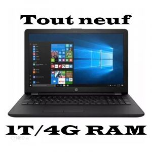 Ordinateur HP 15-BS152- 1T/4Go RAM - INTEL Core i3 -  WIN10 - DVD - Noir