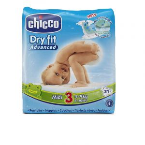 Couche bébé - Dry Fit Advanced-Chicco -Midi 4-9 kg - 21 pcs