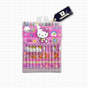 Crayons hello kitty - 12 crayons à rouler - multicolore