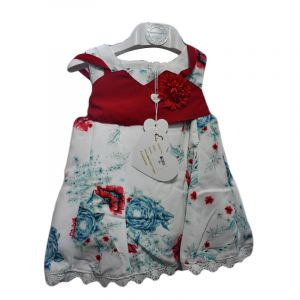 flee party gown, aviaiable in red , yellow and pink 2-5yrs