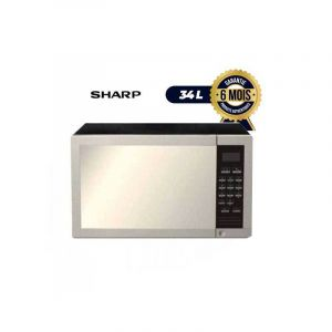 Four à Micro-ondes - Sharp R-77 AT( ST)-  34 Litres - 1000W - Inox|Glotelho