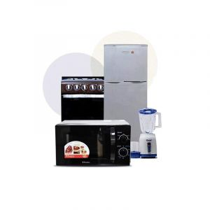 Pack Electro Complet -  Refrigerateur + Mixeur + Cuisiniere + Micro-onde  Glotelho Cameroun