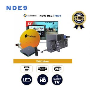 Pack Complet - Television 32 Pouces + Baffle + Startimes 176 Chaines | Glotelho Cameroun