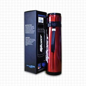 Mini Thermos Portable Isotherme - Inox - Rouge