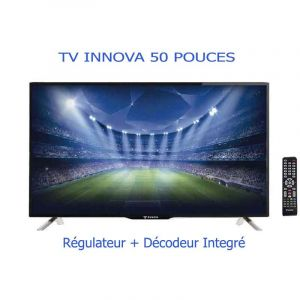 TV INNOVA - 50 Pouces –Digital Satellite - LED TV -  Noir|Glotelho Cameroun