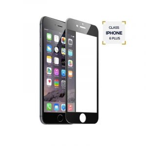 VITRE DE PROTECTION  IPHONE 6 PLUS BLANC |Glotelho