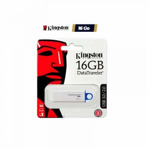 KINGSTON Clé USB- 16Go - Data Traveler - DTIG4/16Go - Blanc et Bleu l Glotelho