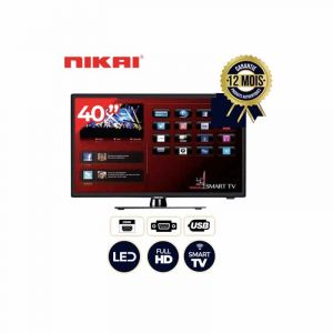 NIKAI NTV4000SLEDT - 40''  TV LED Smart - Full HD - Noir|GlotelhoCameroun