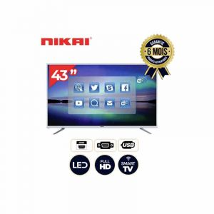 NIKAI NTV4316LED - 43''  TV LED  - Full HD - Noir|GlotelhoCameroun