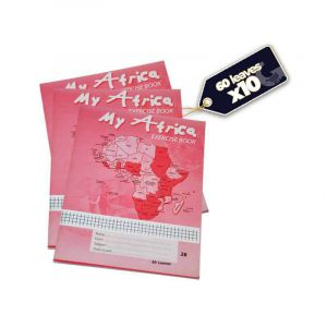 Pack de 10 cahiers Safca My Africa 2B - 60 pages - Rose