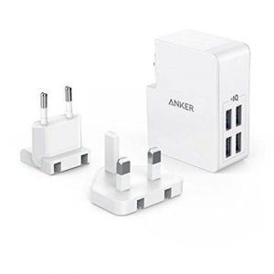 ANKER POWERPORT 4 LITE CHARGEUR MURAL -1 MOIS-BLANC