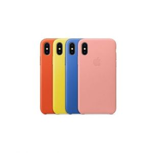 Apple Iphone X Pochette Silicone Case - Bleu - Rouge - Jaune