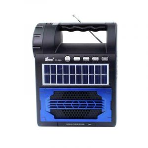 Radio FM solaire rechargeable - FP-25-S - torche | Glotelho Cameroun