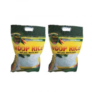 Pack de 2 Sacs de NDOP RICE- Natural and Delicious White Rice-5Kg