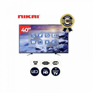 Smart TV - Nikai - NTV4000SLED - 40 pouces - LED TV - Slim - Ultra HD - 12 mois | Glotelho Cameroun