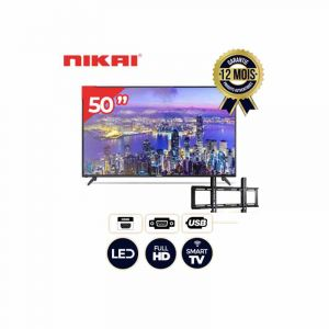 Smart TV  – Nikai – NTV5000SLEDT – 50 Pouces  – Full HD LED TV  + Support murale |GlotelhoCameroun