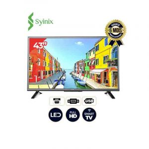 SMART TV SYNIX-43A1S-43POUCES - ANDROID TV-FULL HD   | Glotelho Cameroun