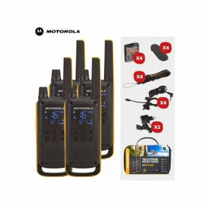 Pack de 4 Talkies walkies - Motorola Talkabout T82  - Noir | Glotelho  Cameroun