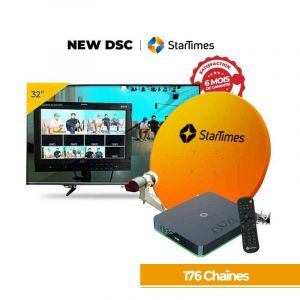 Television + Décodeur Startimes 176 Chaines | Glotelho Cameroun