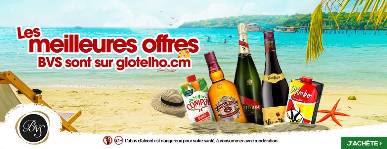 Bannière des boissons BVS Cameroun